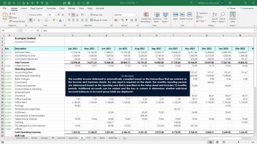 accounting templates